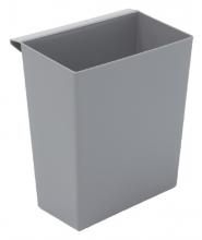 , Inzetbak voor vierkante tapse papierbak grijs