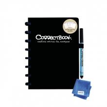 , Notitieboek Correctbook A5 lijn 40blz + 4 extra pagina`s zwart