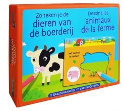 ZNU , Zo teken je de dieren van de boerderij Dessine les animaux de la ferme