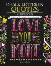 Chalk letteren Quotes kleurboek