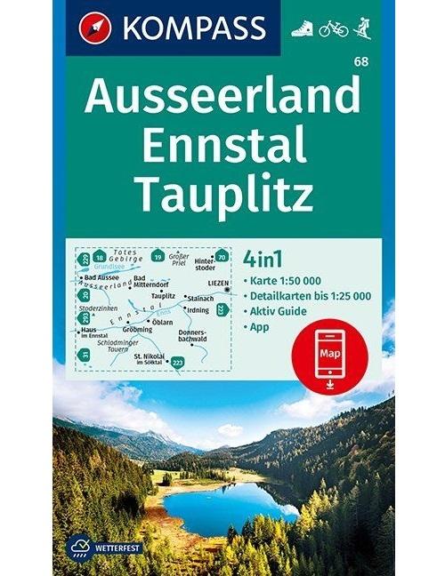 Kompass-Karten Gmbh,Ausseerland, Ennstal, Tauplitz 1:1:50 000