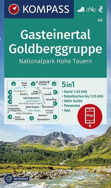,Gasteinertal, Goldberggruppe, Nationalpark Hohe Tauern 1:50 000