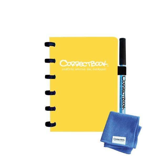 ,Notitieboek Correctbook A6 lijn 40blz geel
