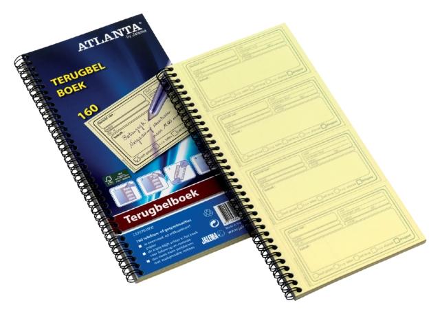 ,Terugbelboek Atlanta 74x128mm 400 notities 100vel