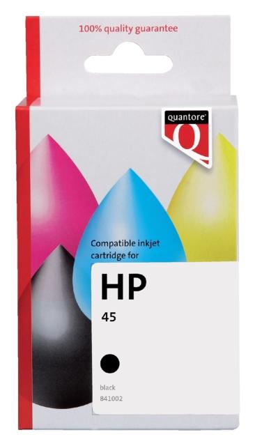 ,Inktcartridge Quantore HP 51645A 45 zwart