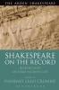 Crummé, Hannah Leah,Shakespeare  on the Record