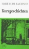 Kaschnitz, Marie Luise,Kurzgeschichten