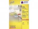 ,etiket Avery ILK 70x37mm 100 vel 24 etiketten per vel geel
