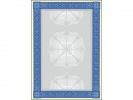 ,designpapier Sigel A4 185grs pak a 20 vel waardepapier blauw