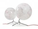 ,globe Nodo 30cm diameter met verlichting wit / rood