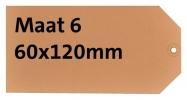 ,<b>Label karton nr6 200gr 60x120mm chamois 1000stuks</b>