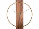 ,Wandklok NeXtime 50.8x58.2x4.3, hout/Steel, bruin