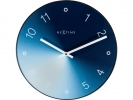 ,<b>Wandklok NeXtime Gradient � 40 cm blauw/zwart</b>
