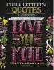 ,<b>Chalk letteren Quotes kleurboek</b>