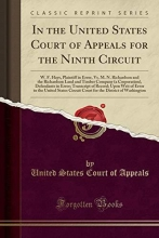 Appeals, United States Court Of In the United States Court of Appeals for the Ninth Circuit