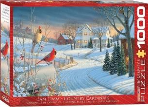 Eur-6000-0981 , Puzzel country cardinals - sam timm - 1000 stuks