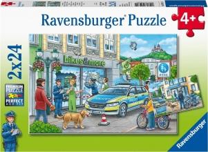 Rav-050314 , Puzzel onderweg met een politieagent 2x 24 stuks