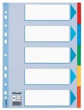 , Tabbladen Esselte A4 11R karton 5-delig met voorblad