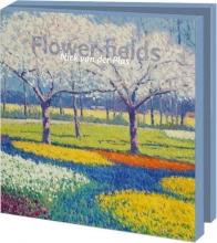 Wmc886 , Notecards 10 stuks 15x15 flower fields van der plas