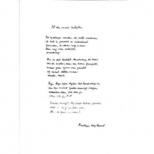 Rutger Kopland , Poëzieposter plint Al die mooie beloften