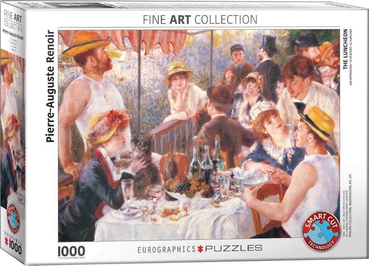 Eur-6000-2031,Puzzel  eurographics the luncheon - renoir 1000 stukjes