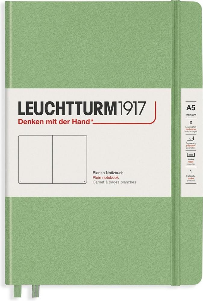 Lt363929,Leuchtturm notitieboek composition softcover 178x254 mm blanco sage lichtgroen