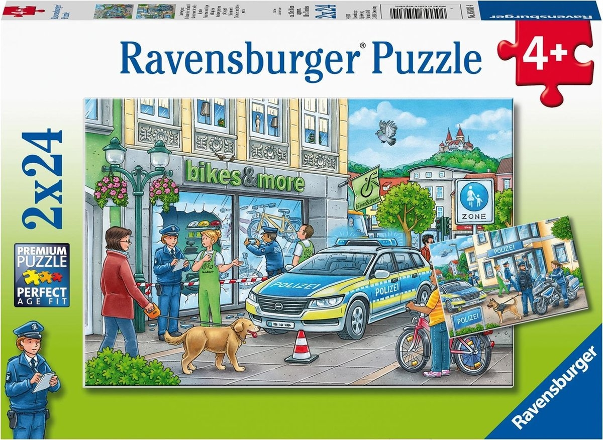 Rav-050314,Puzzel onderweg met een politieagent 2x 24 stuks