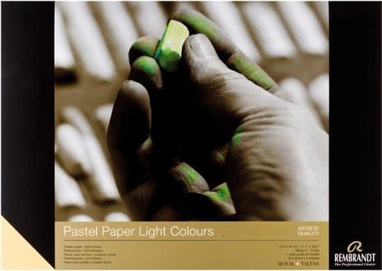 ,Talens pastel papier a3 lichte kleuren