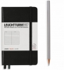 Lt334821 , Leuchtturm notitieboek pocket 90x150 lijn zwart