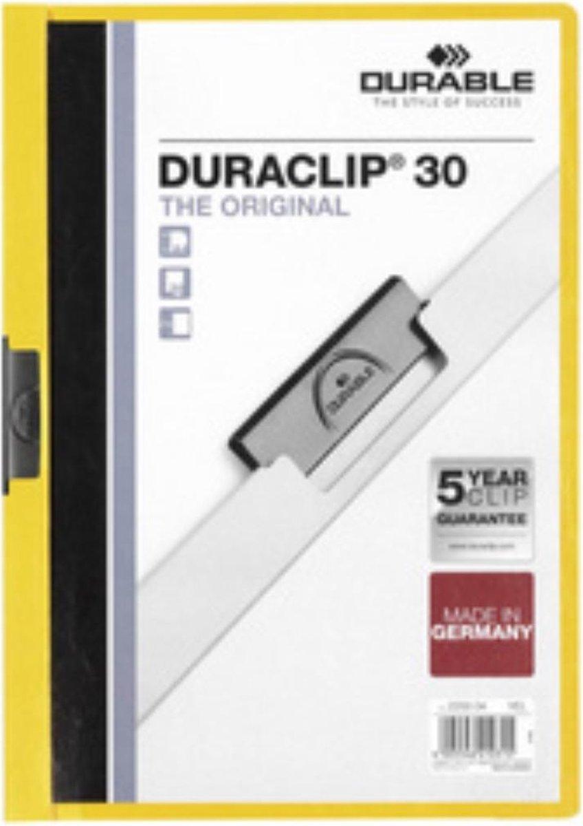 ,Klemmap Durable 2200 A4 3mm geel