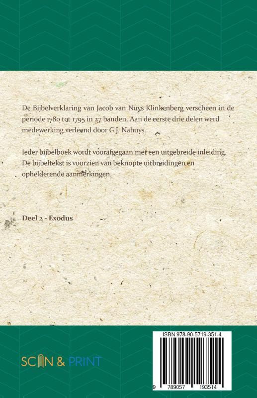 Jacob van Nuys Klinkenberg, G.J. Nahuys,Exodus