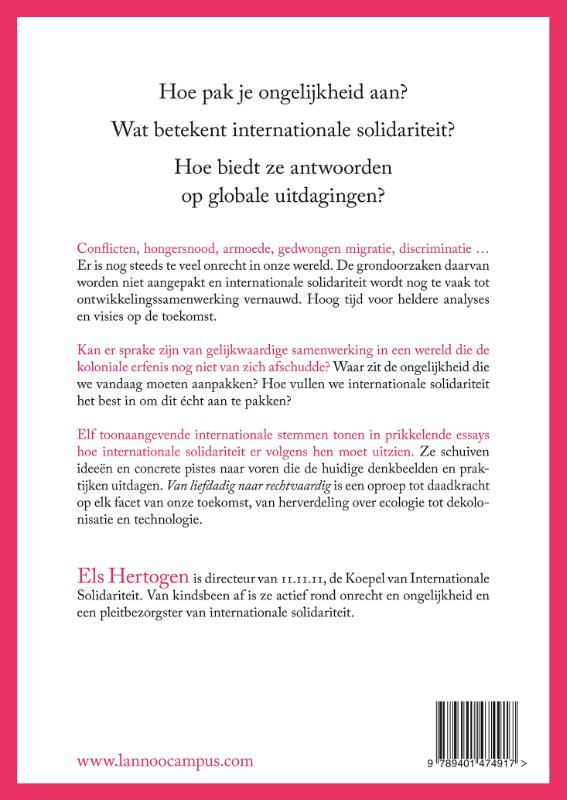 Els Hertogen,Van liefdadig naar rechtvaardig