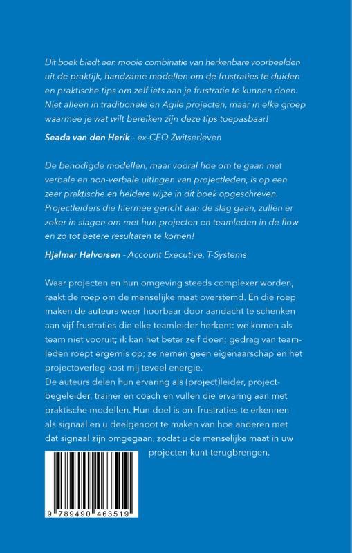 Marieke Strobbe, Hans Veenman, Leo de Bruijn, Menno Valkenburg,Vijf frustraties van projectmanagers