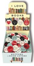 I Love Books Button Box