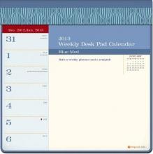 Blue Mod Weekly Desk Pad Calendar
