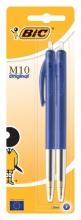 , Balpen Bic M10 blauw medium blister à 2st