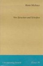 Michaux, Henri Von Sprachen und Schriften