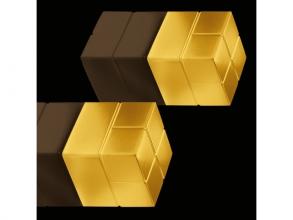 , magneet voor glasbord Sigel 20x20x20mm Super Strong goud