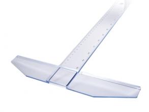 , tekenhaak Möbius & Ruppert 75cm blauw/transparant