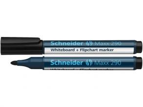 , Viltstift Schneider 290 whiteboard rond zwart 2-3mm