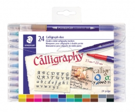 , Kalligrafiepen Staedtler duo punt 2.0 en 3.5mm ass
