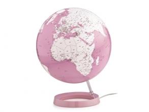 , globe Bright Coral 30cm diameter kunststof voet met         verlichting