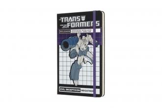 , Moleskine LE Notitieboek Transformers Large (13x21 cm) Gelinieerd Megatron