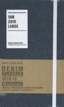 Moleskine Wochen Notizkalender, Denim, 18 Monate, 2018/2019, Large/A5, Hard Cover, Schwarz
