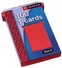 , Planbord T-kaart Jalema formaat 4 107mm rood