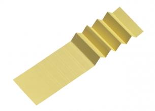 , Ruiterstrook voor Alzicht hangmappen 65mm geel