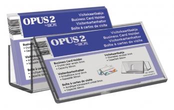, Visitekaartenbak OPUS 2 bali met voorbeeldvenster acryl