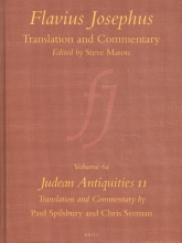 Chris Seeman Paul Spilsbury, Flavius Josephus: Translation and Commentary, Volume 6a: Judean Antiquities 11