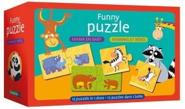 , Funny puzzle - mama en baby Funny puzzle - mamans et bébés
