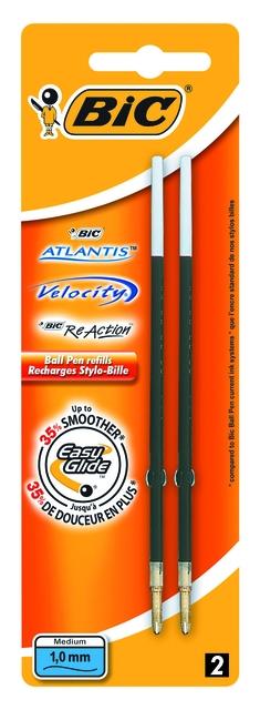 ,Balpenvulling Bic tbv diverse balpennen zwart medium à 2st
